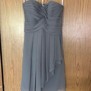 Grey/Silver Mid-Length Dress